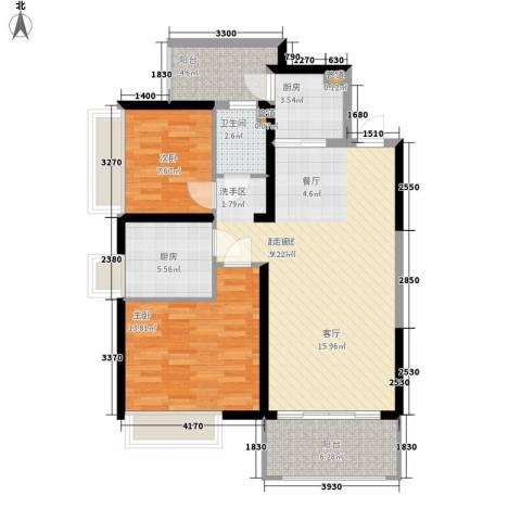 长安大街三号2室0厅1卫2厨102.00㎡户型图
