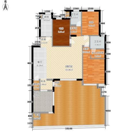 万科四季花城3室0厅2卫1厨188.00㎡户型图
