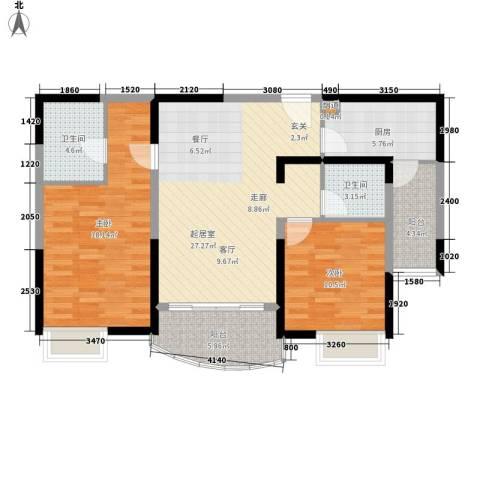 金桥瑞仕花园2室0厅2卫1厨122.00㎡户型图