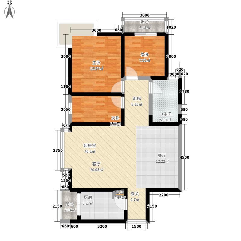慕和南道111.00㎡一期4栋标准层1面积11100m户型