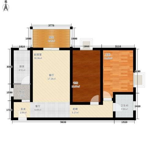 都市朝阳2室0厅1卫1厨103.00㎡户型图
