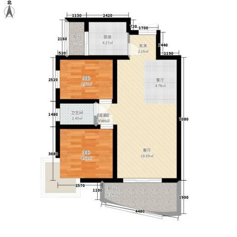 金花路丹尼尔小区2室0厅1卫1厨67.00㎡户型图