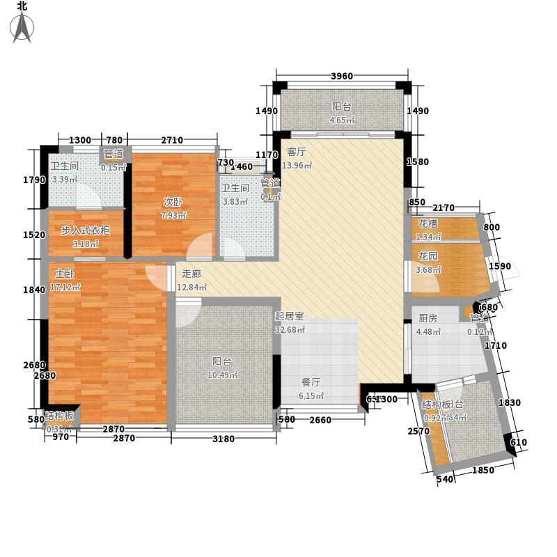 锦尚蓬莱苑112.44㎡二号楼B栋2B03户型