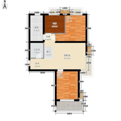 天下荣郡3室0厅1卫1厨104.00㎡户型图