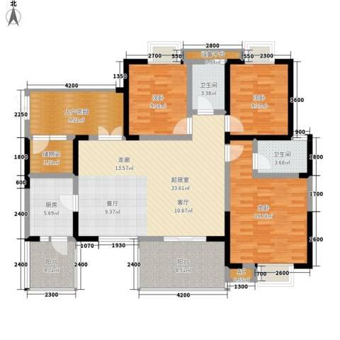 红树湾3室0厅2卫1厨131.00㎡户型图