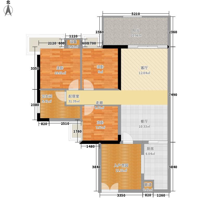 翠城花园104.78㎡20栋5-33层05单面积10478m户型