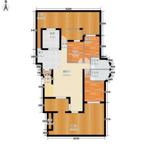 阳光聚宝山庄臻园3室1厅2卫1厨161.00㎡户型图