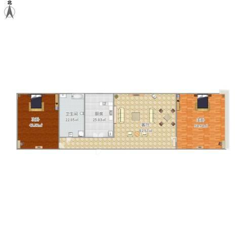 东域美墅2室1厅1卫1厨300.00㎡户型图