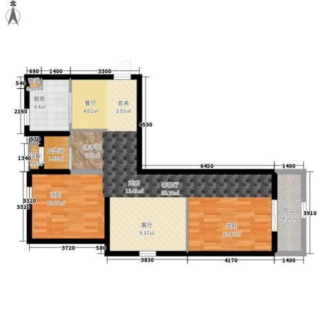 观城1厅1卫1厨91.00㎡户型图