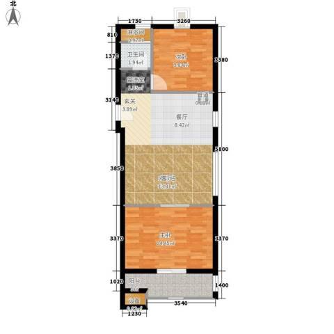 居易时代2室0厅1卫0厨68.00㎡户型图