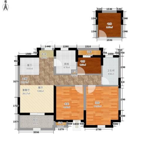 景瑞望府4室1厅1卫1厨88.00㎡户型图