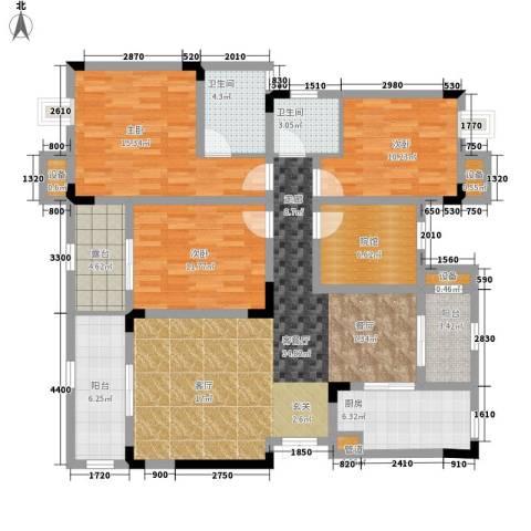 鲁能领秀城3室1厅2卫1厨108.62㎡户型图
