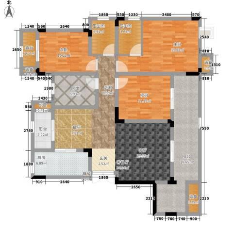 鲁能领秀城3室1厅2卫1厨115.16㎡户型图