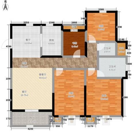景瑞望府4室1厅2卫1厨135.00㎡户型图