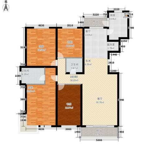 绩业家园4室0厅2卫1厨176.00㎡户型图