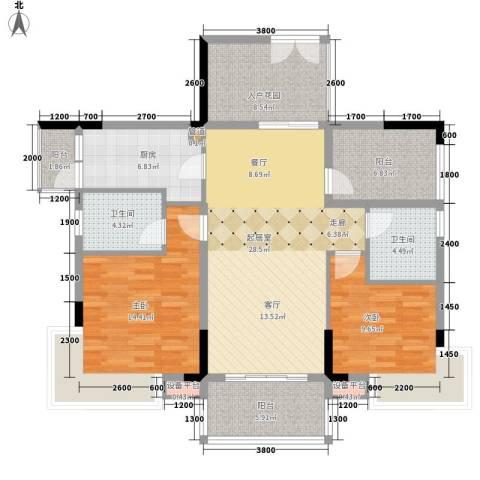 好美嘉园2室0厅2卫1厨107.00㎡户型图