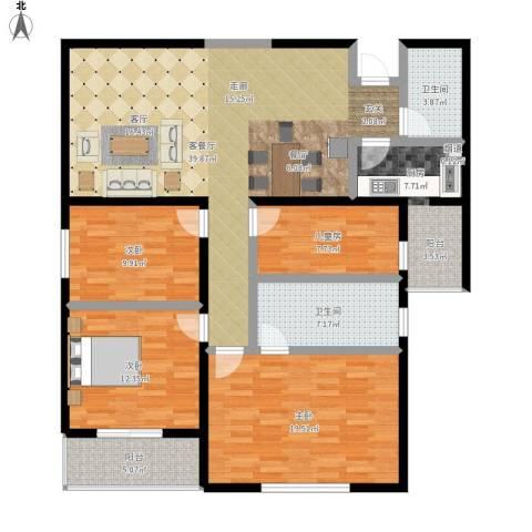 东方广场4室1厅2卫1厨162.00㎡户型图