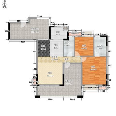 好美嘉园2室0厅2卫1厨111.00㎡户型图