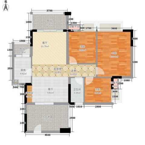 好美嘉园3室0厅1卫1厨103.00㎡户型图