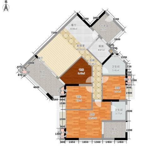 好美嘉园4室0厅2卫1厨137.00㎡户型图