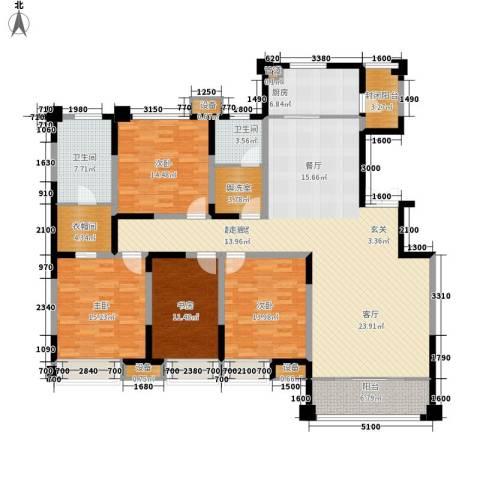 中海凯旋门4室0厅2卫1厨192.00㎡户型图