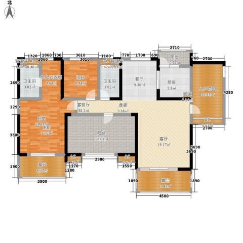 保利心语花园别墅1室1厅2卫1厨150.44㎡户型图