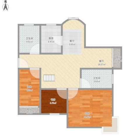 宁怡苑 23室1厅2卫1厨68.00㎡户型图