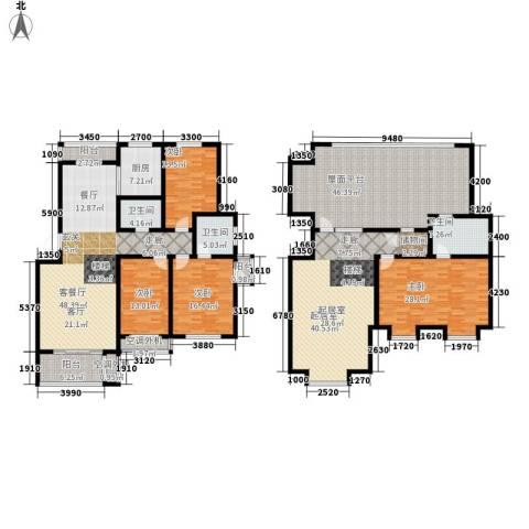 宾南花园4室1厅3卫1厨345.00㎡户型图