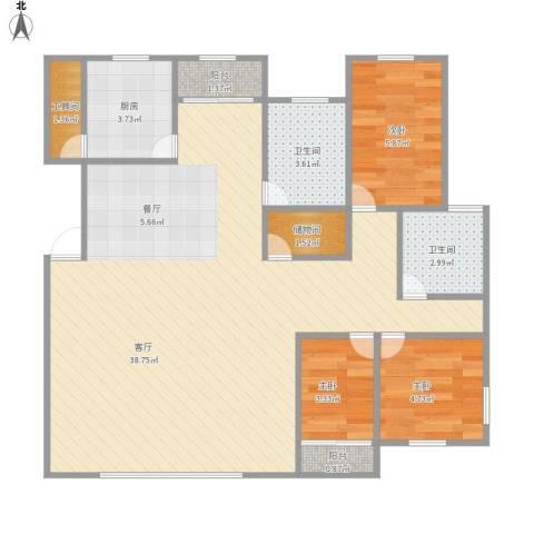 和润家园别墅3室1厅2卫1厨93.00㎡户型图