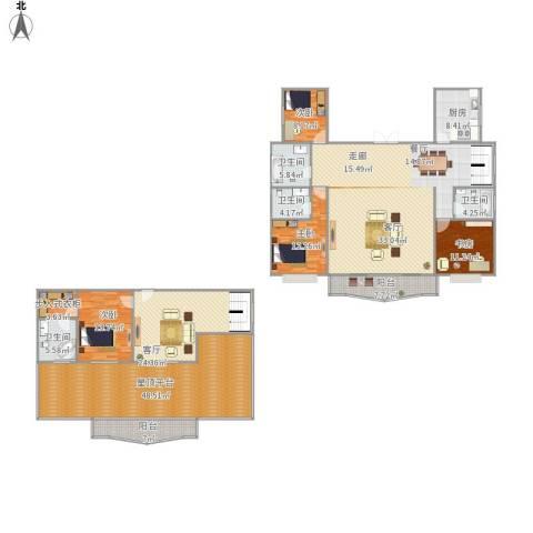 中润世纪城4室1厅4卫1厨304.00㎡户型图