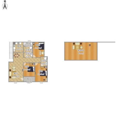 云龙嘉苑3室1厅3卫1厨205.00㎡户型图