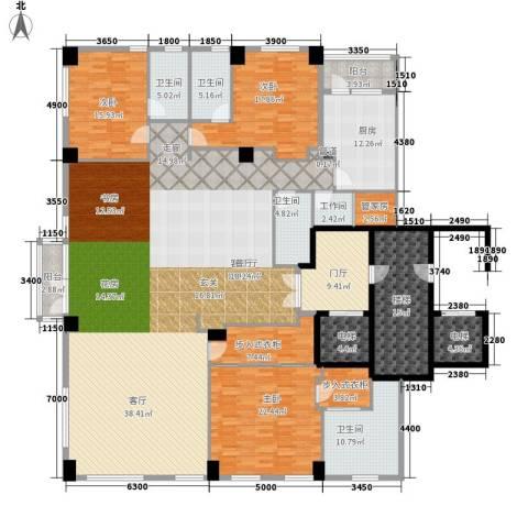 桥机嘉园3室1厅4卫1厨366.00㎡户型图