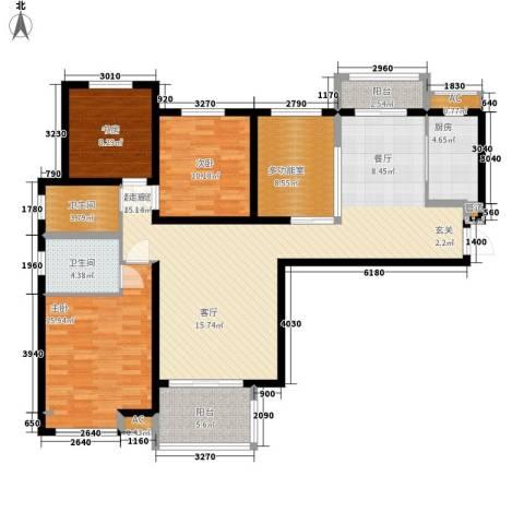 宏林名苑3室0厅2卫1厨137.00㎡户型图