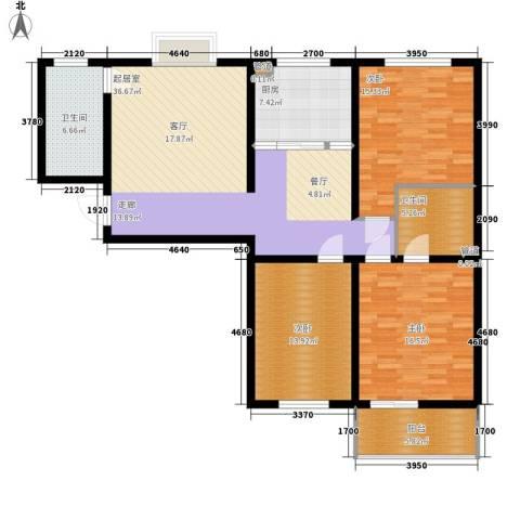 长延居会展明珠3室0厅2卫1厨123.00㎡户型图