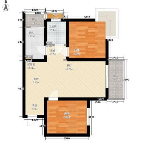 太白花园2室0厅1卫1厨81.00㎡户型图