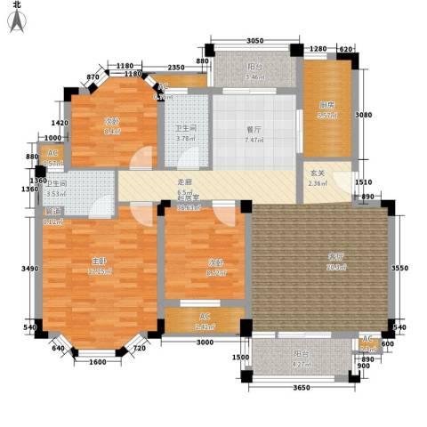 南沙碧桂园3室0厅2卫1厨139.00㎡户型图