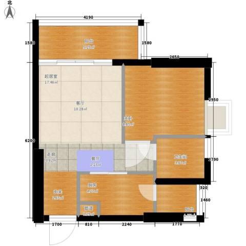 美林海岸花园1室0厅1卫1厨50.00㎡户型图