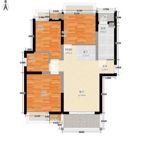 太白花园4室0厅0卫1厨94.00㎡户型图