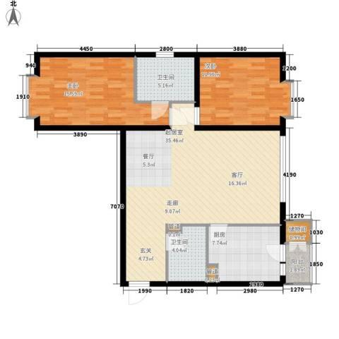 房地局家属院2室0厅2卫1厨117.00㎡户型图