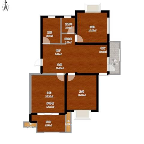 仙林诚品城2室1厅1卫1厨123.00㎡户型图