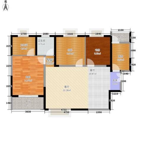 美都香域3室1厅2卫1厨119.00㎡户型图