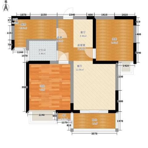 太白花园2室0厅1卫1厨84.00㎡户型图