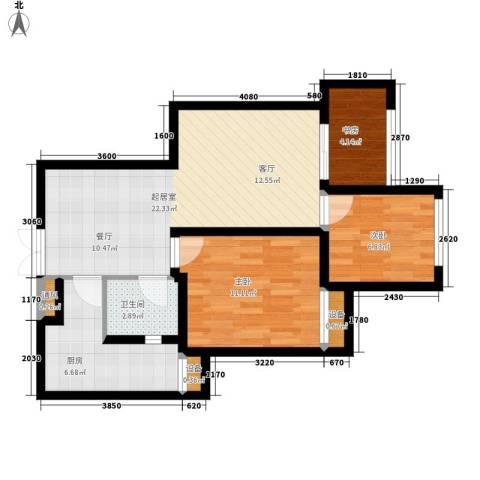 金辉悦府3室0厅1卫1厨72.00㎡户型图