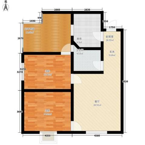长延居会展明珠2室0厅1卫1厨89.00㎡户型图