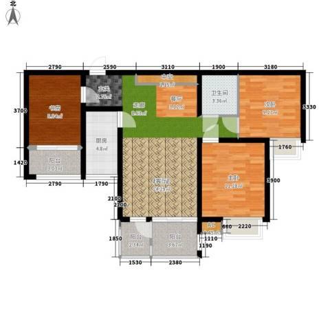 尚品国际3室0厅1卫1厨89.54㎡户型图