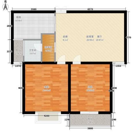 房地局家属院2室0厅1卫1厨93.00㎡户型图