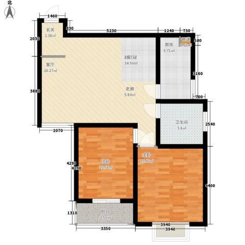 长延居会展明珠2室0厅1卫1厨88.00㎡户型图