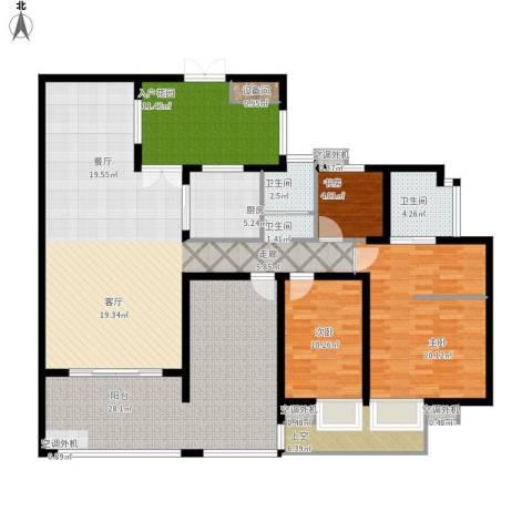 富中蝴蝶谷3室1厅2卫1厨201.00㎡户型图