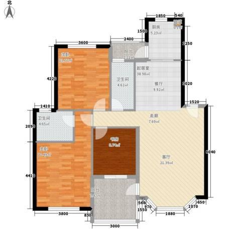 航天花园3室0厅2卫1厨144.00㎡户型图
