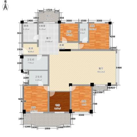 航天花园5室0厅3卫1厨215.00㎡户型图